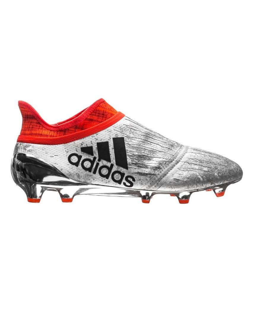 b6e615b2 Бутсы Adidas X 16+ PureChaos FG/AG Mercury Silver Metallic/Core Black/Solar  Red