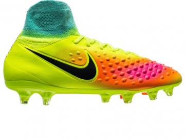 Бутсы Nike Magista Obra II FG Volt/Black/Total Orange/Pink Blast/ HyperTurquoise Kids 844410-708
