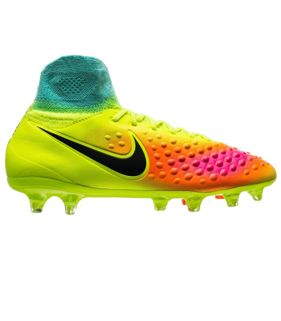 Бутсы Nike Magista Obra II FG Volt Black Total Orange Pink Blast   HyperTurquoise Kids 844410-708 c14f07021b7