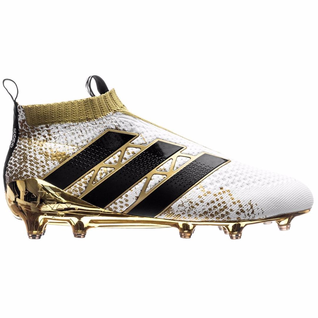 Бутсы Adidas ACE 16+ PureControl FG AG Stellar Pack - White Core Black Gold  Metallic AQ6357 a5f9ba3b3a
