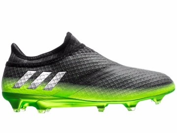 Бутсы Adidas Messi 16+ PureAgility FG/AG Space Dust - Dark Grey/Silver Metallic/Solar Green S76489