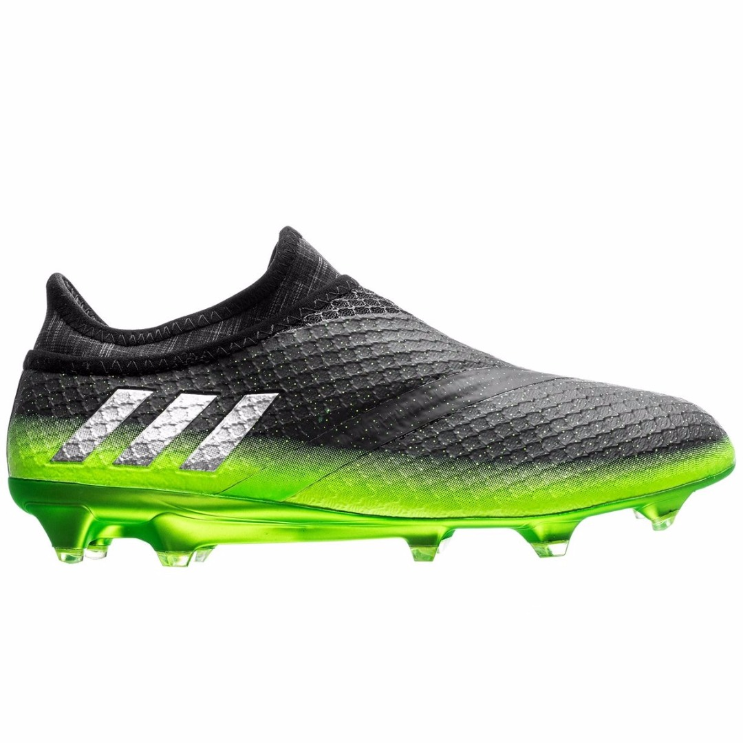 6a47efd5 Бутсы Adidas Messi 16+ PureAgility FG/AG Space Dust - Dark Grey/Silver  Metallic/Solar Green S76489