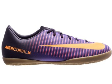 Футзалки Nike MercurialX Vapor IC Floodlights Pack - Purple Dynasty/Bright Citrus Kids 831947-585