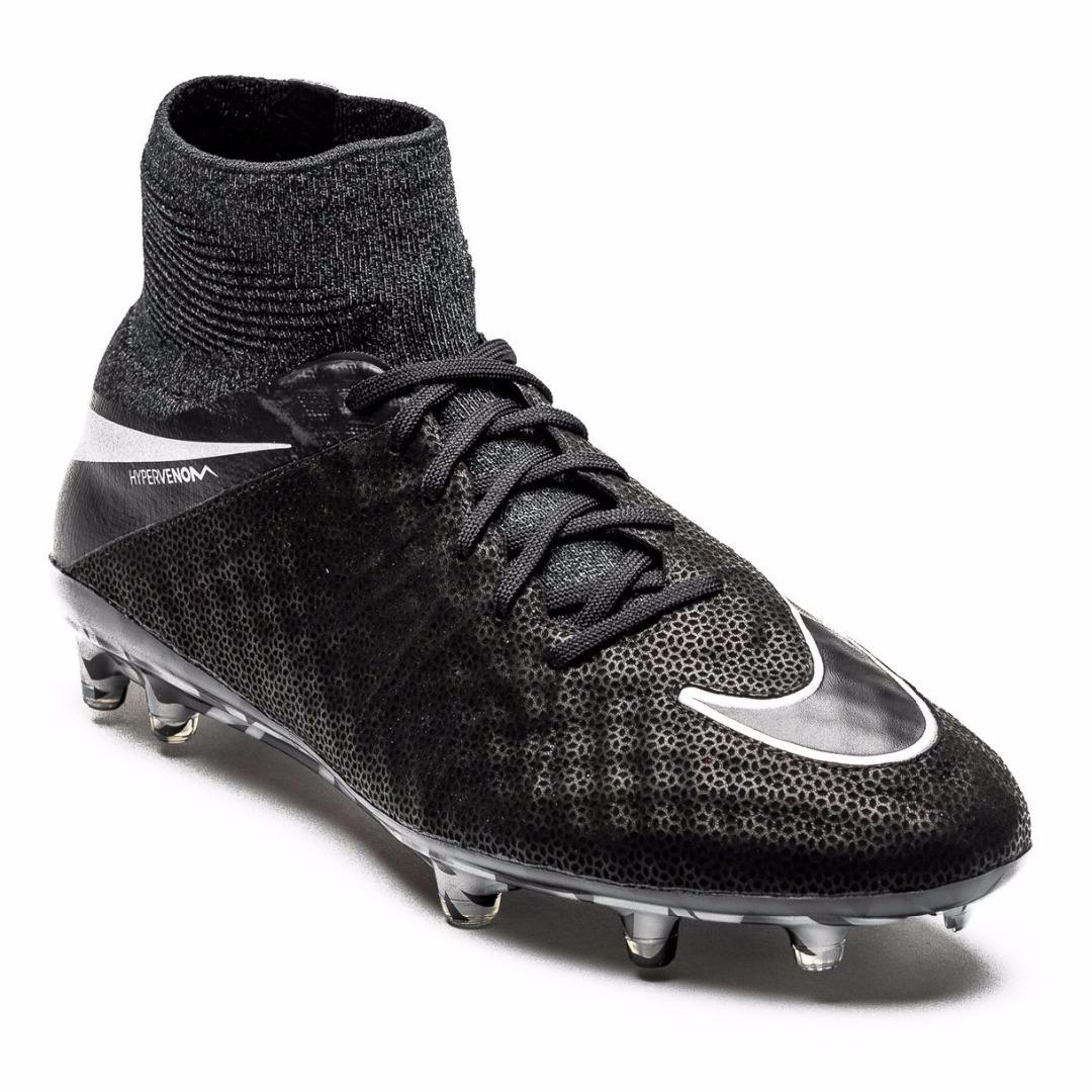 4d02cba3 Бутсы Nike Hypervenom Phantom II Leather FG Tech Craft Pack 2.0 -  Black/Silver Metallic 852645-001