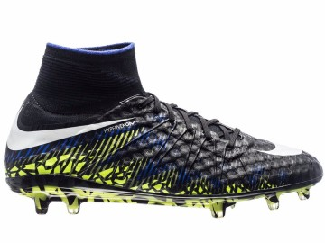 Бутсы Nike Hypervenom Phantom II FG Dark Lightning Pack - Black/White/Volt 747213-017