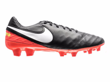 Бутсы  Nike Tiempo Mystic V FG Dark Lightning Pack - Black/White/Hyper Orange 819236-018