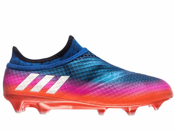 Бутсы Adidas Messi 16+ PureAgility FG/AG Blue Blast - Blue/Feather White/Solar Orange BB1871
