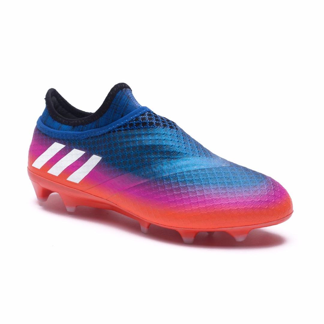 d1f29115 Бутсы Adidas Messi 16+ PureAgility FG/AG Blue Blast - Blue/Feather  White/Solar Orange BB1871