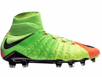 Бутсы Nike Hypervenom Phantom 3 DF FG Radiation Flare - Electric Green/Black/Hyper Orange 860643-308