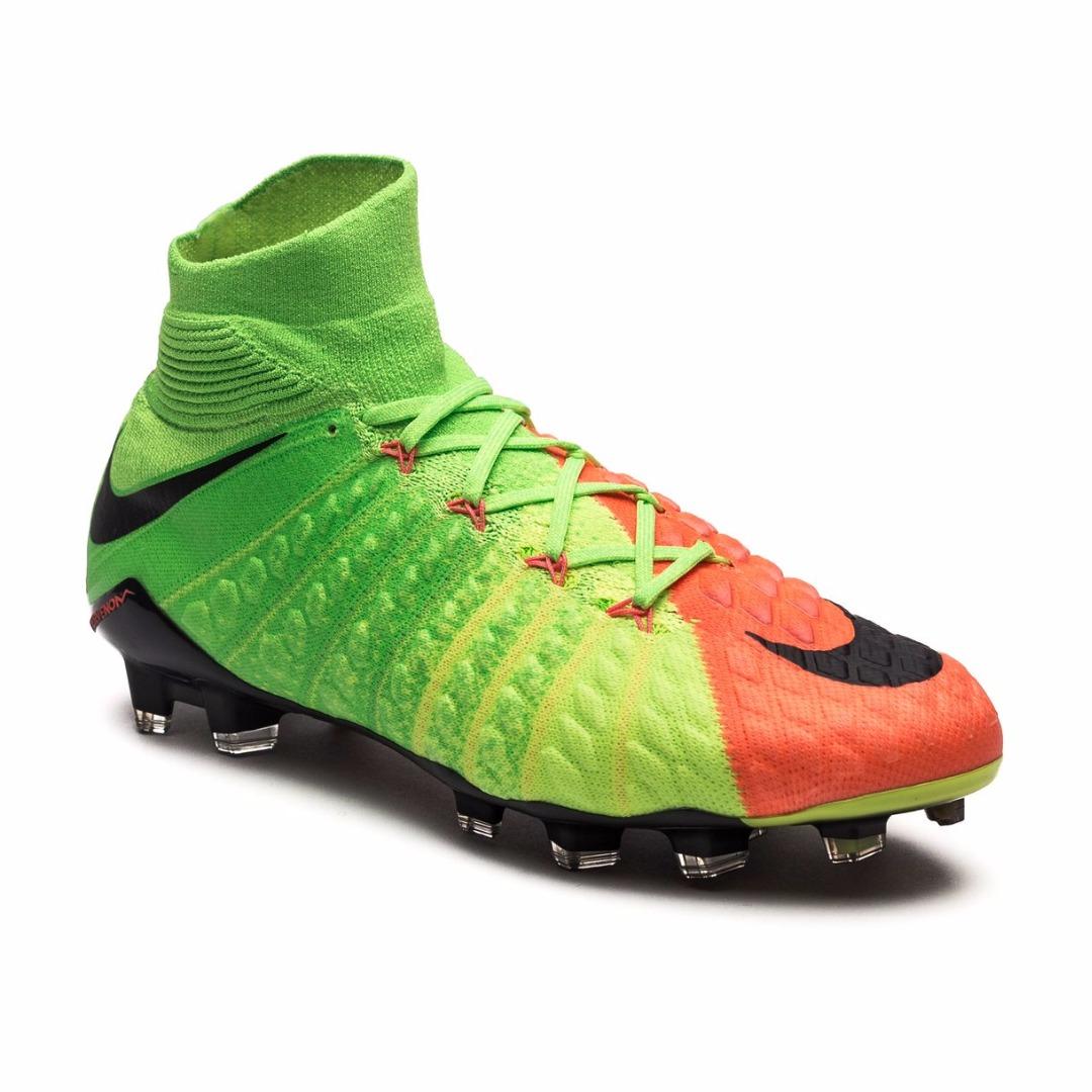 2b89c98c Бутсы Nike Hypervenom Phantom 3 DF FG Radiation Flare - Electric  Green/Black/Hyper Orange 860643-308