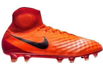 Бутсы Nike Magista Obra II FG Radiation Flare - Total Crimson/Black  844595-806
