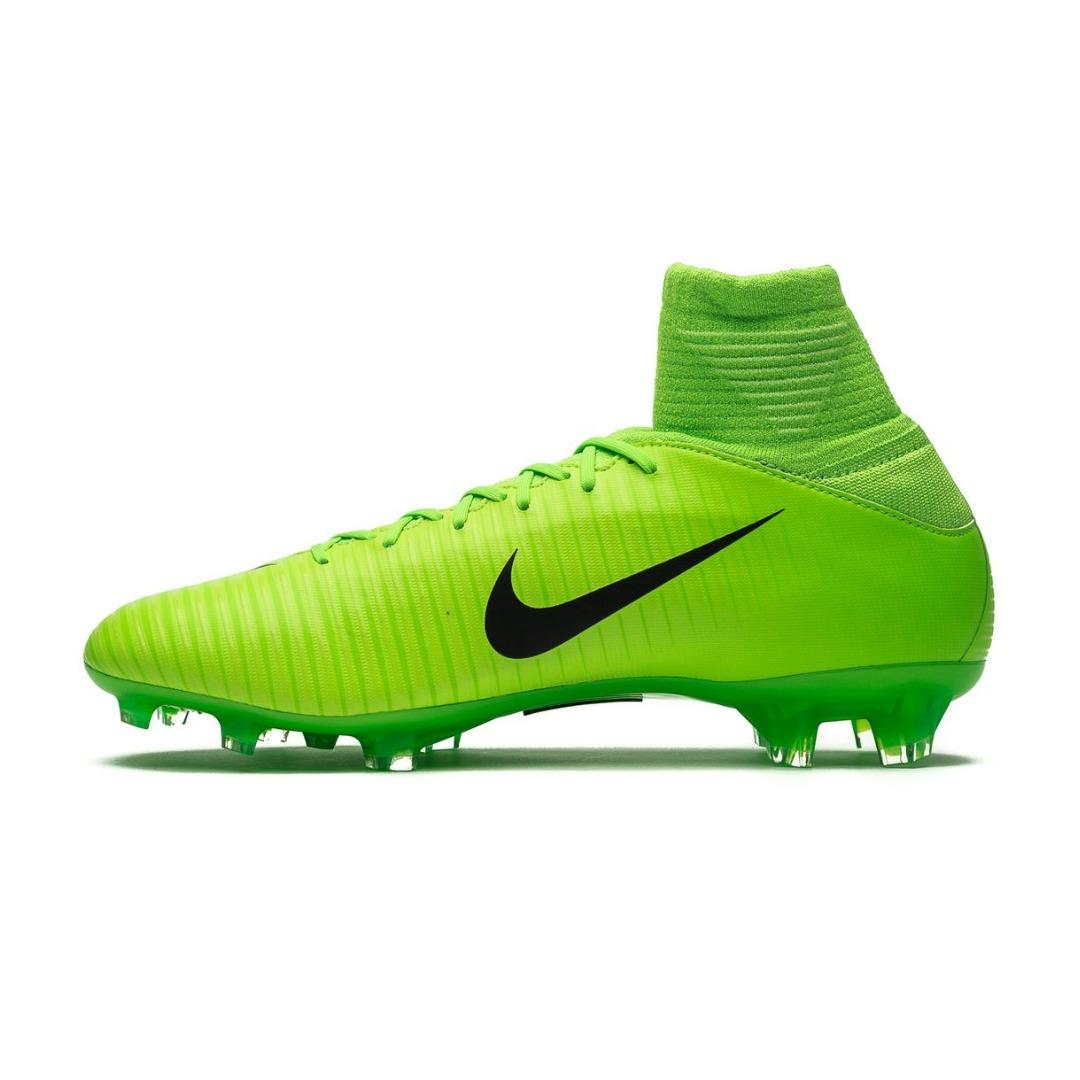 Бутсы Nike Mercurial Superfly V FG Radiation Flare - Electric Green Black  Kids 831943-303 f24cae21363