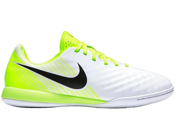 Футзалки Nike MagistaX Opus II IC Motion Blur - White/Volt/Pure Platinum 844422-109 Kids