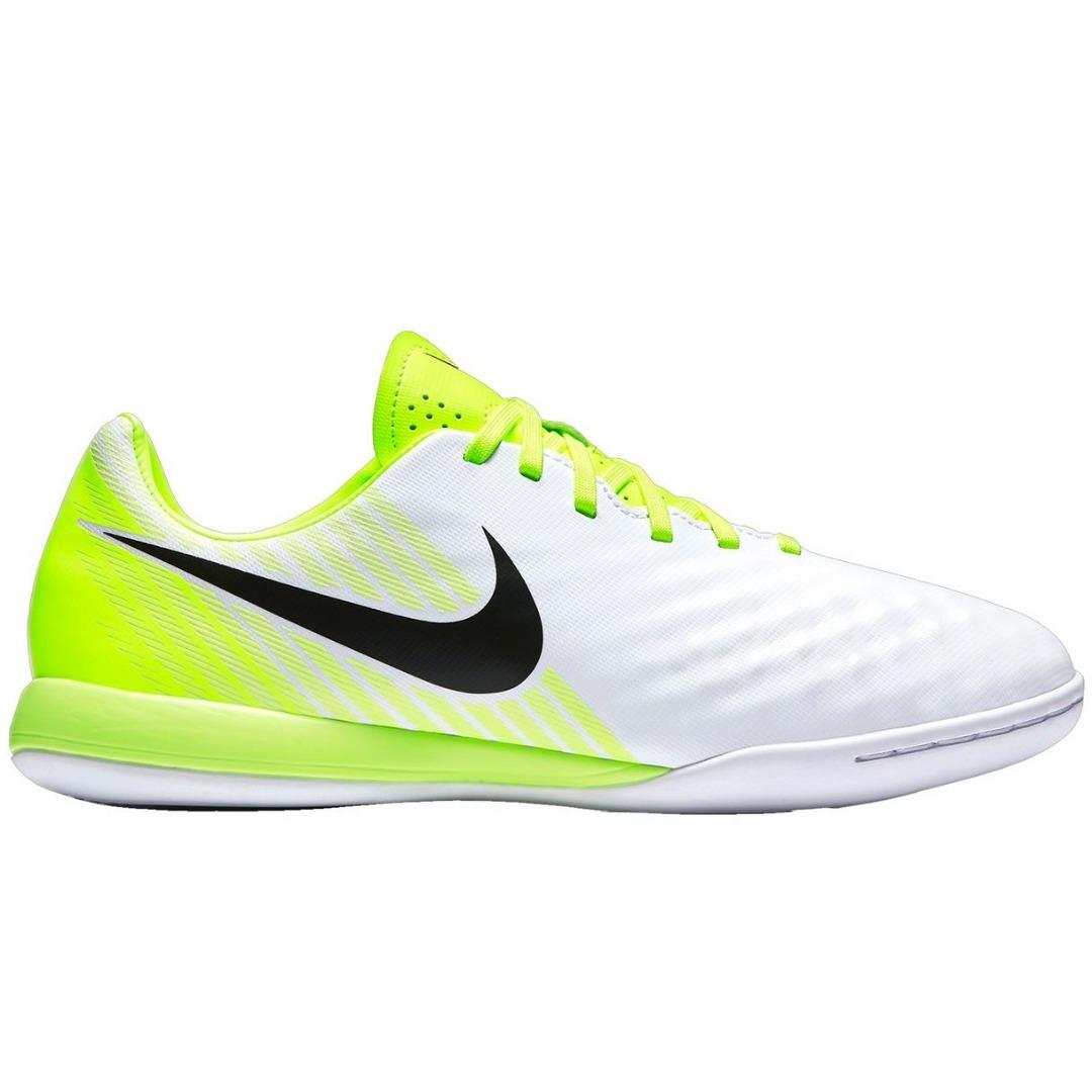4bd3e930 Футзалки Nike MagistaX Opus II IC Motion Blur - White/Volt/Pure Platinum  844422-109 Kids