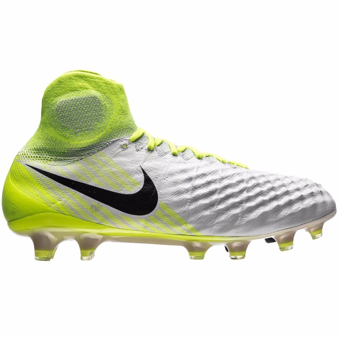 30f075d8 Бутсы Nike Magista Obra II FG Motion Blur - White/Volt/Pure Platinum  844595-109