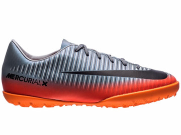 Шиповки Nike MercurialX Victory VI CR7 Chapter 4 TF - Cool Grey/Orange 852487-001 Kids