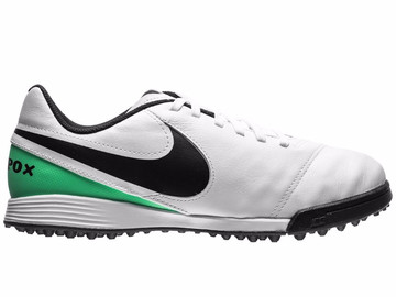 Шиповки Nike TiempoX Legend 6 TF Motion Blur - White/Black/Electro Green 819191-103 Kids