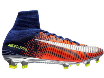 Бутсы Nike Mercurial Superfly V FG Time To Shine - Deep Royal Blue/Chrome/Total Crimson 831940-408