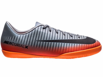 Футзалки Nike MercurialX Victory VI CR7 Chapter 4 IC - Cool Grey/Orange Kids 852488-001