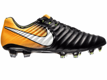 Бутсы Nike Tiempo Legend 7 FG Lock in. Let loose. - Black/White/Laser Orange 897752-008