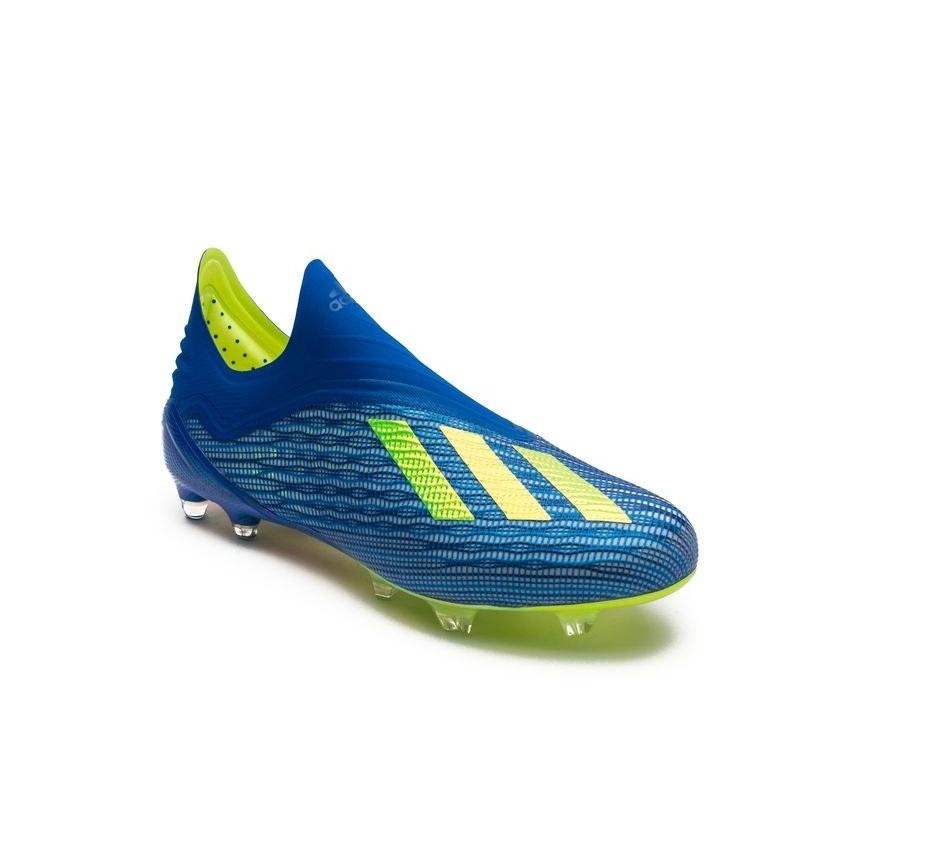 cd0ce9cb Бутсы adidas X 18+ FG/AG Energy Mode - Blue/Yellow CM8358
