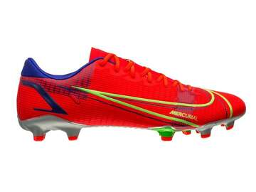 Бутсы Nike Mercurial Vapor 14 Academy MG Spectrum - Bright Crimson/Metallic Silver